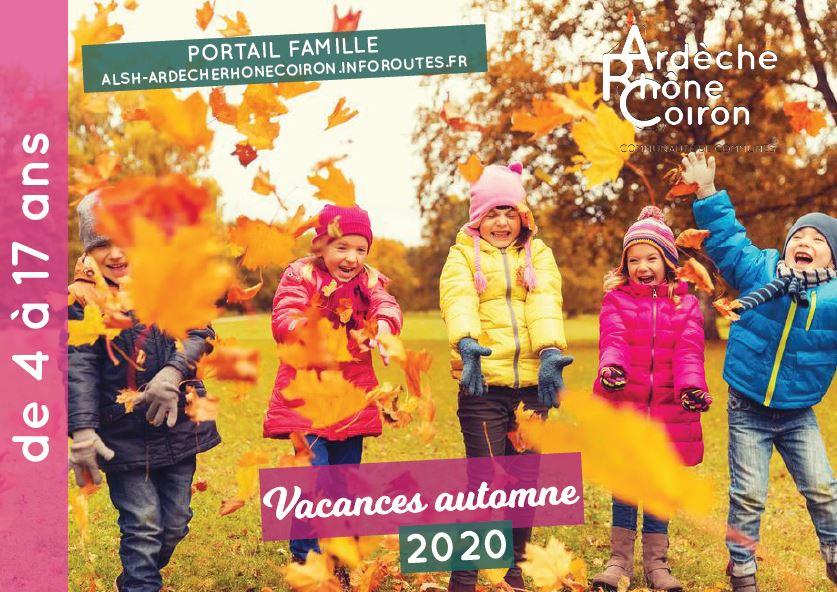 Vacances d'automne 2020
