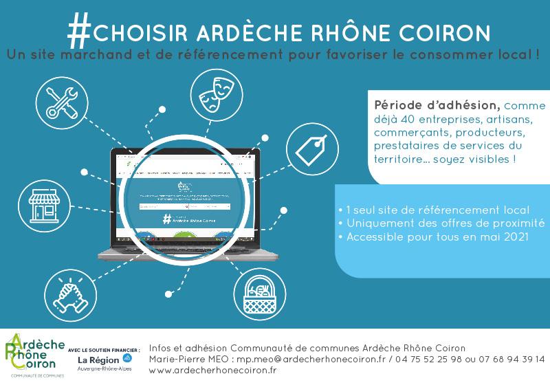 #CHOISIR ARDÈCHE RHÔNE COIRON